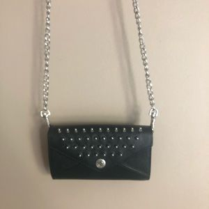 Rebecca Minkoff Black Leather Crossbody Bag/Clutch